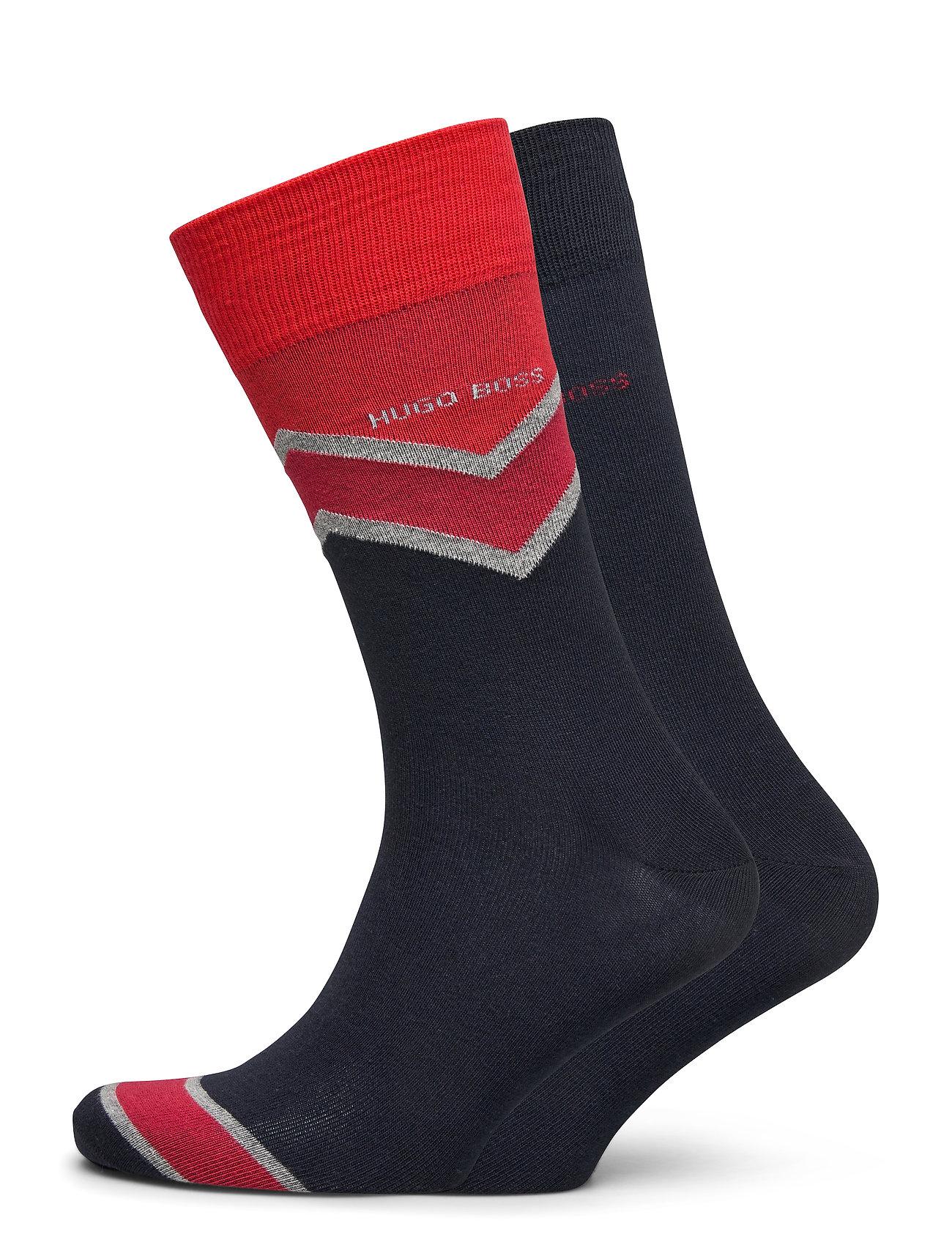Image of 2p Rschevronstripecc Underwear Socks Regular Socks Blå BOSS (3439674979)