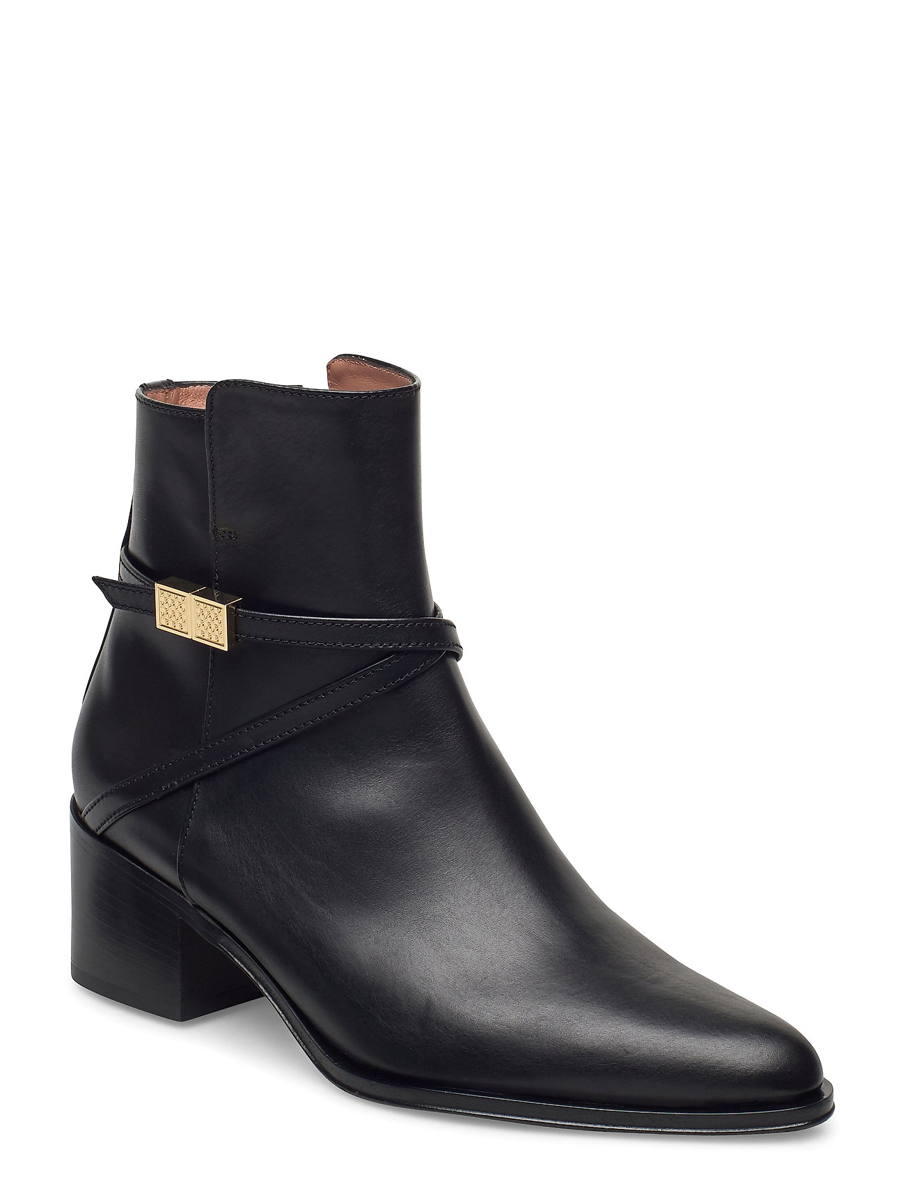 Image of Carine Bootie 50-C Shoes Boots Ankle Boots Ankle Boot - Heel Sort BOSS (3441399937)
