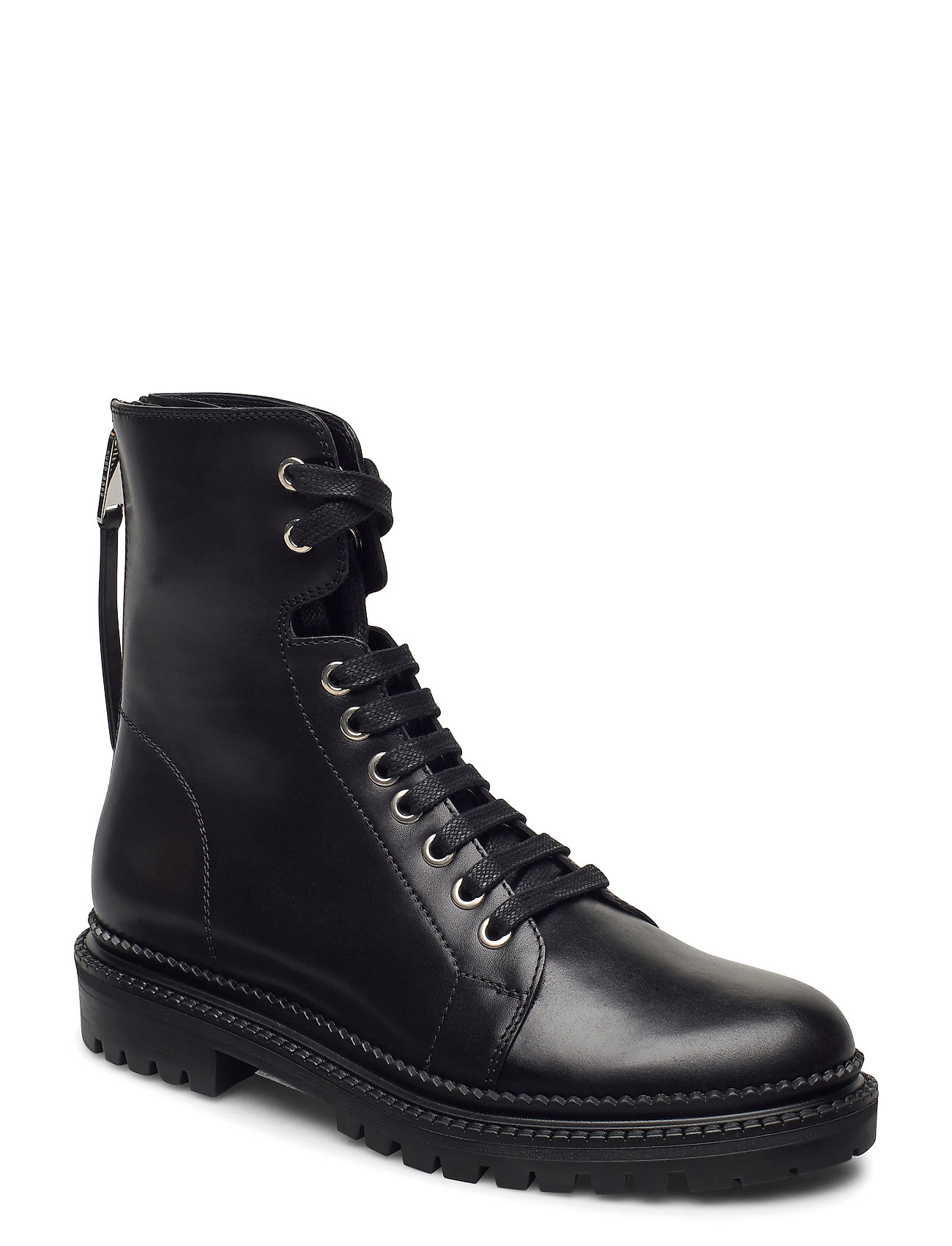 Image of Katlin Biker-C Shoes Boots Ankle Boots Ankle Boot - Flat Sort BOSS (3441399939)