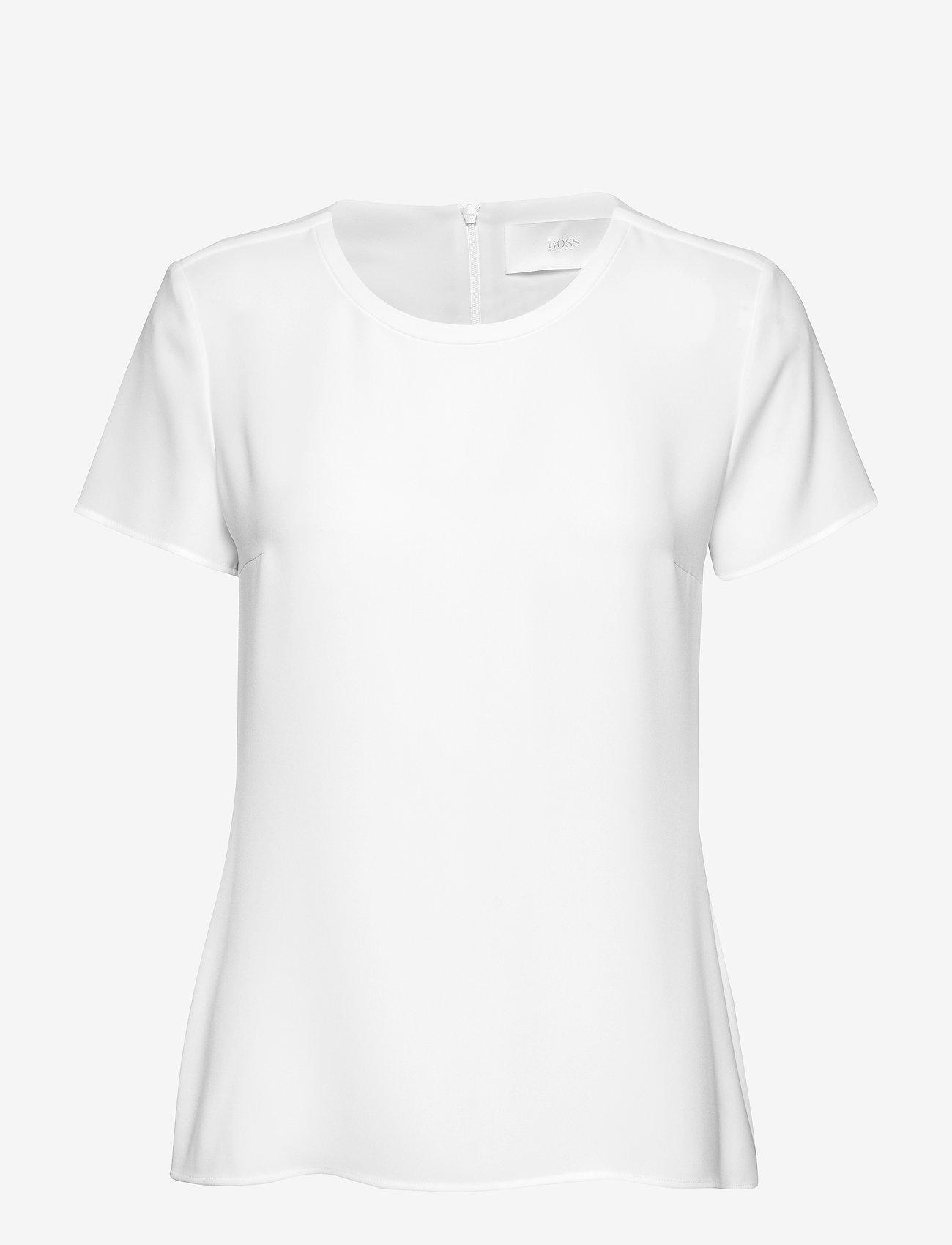 BOSS - Ilyna - blūzes ar īsām piedurknēm - open white - 0