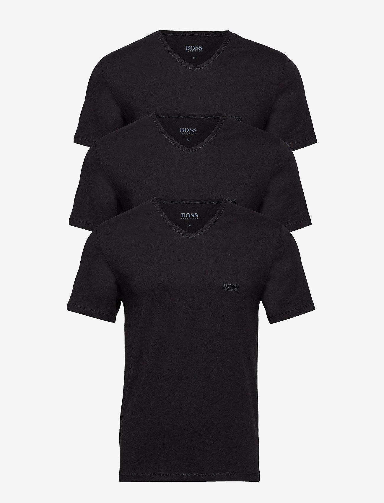 BOSS - T-Shirt VN 3P CO - basic t-shirts - black - 1