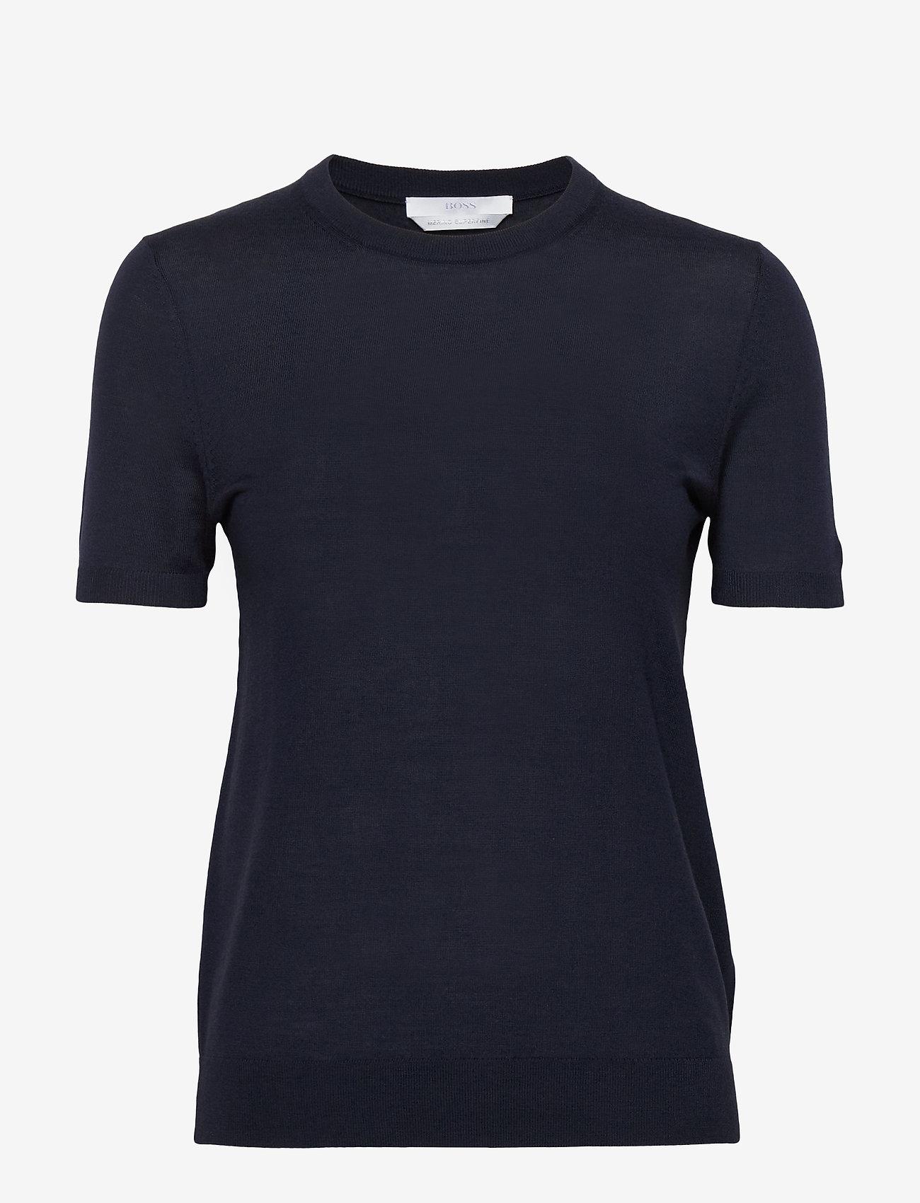 BOSS - Falyssa - strikkede toppe - open blue - 0