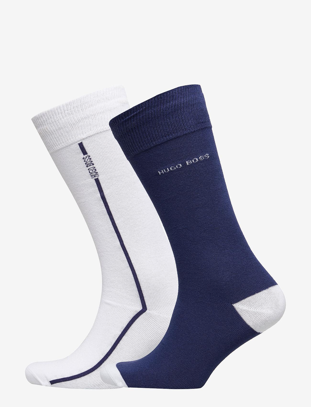 BOSS - 2P RS Logo Stripe CC - regulære sokker - white - 0