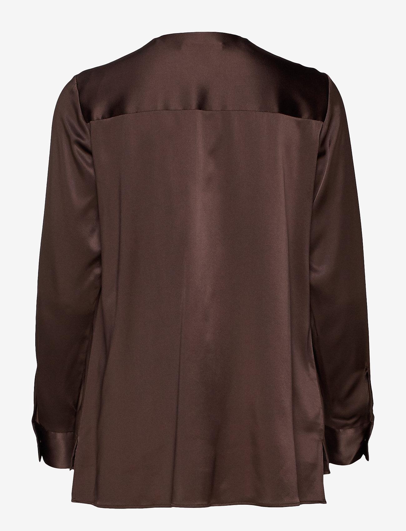 BOSS - Bintu - langærmede bluser - dark brown - 1