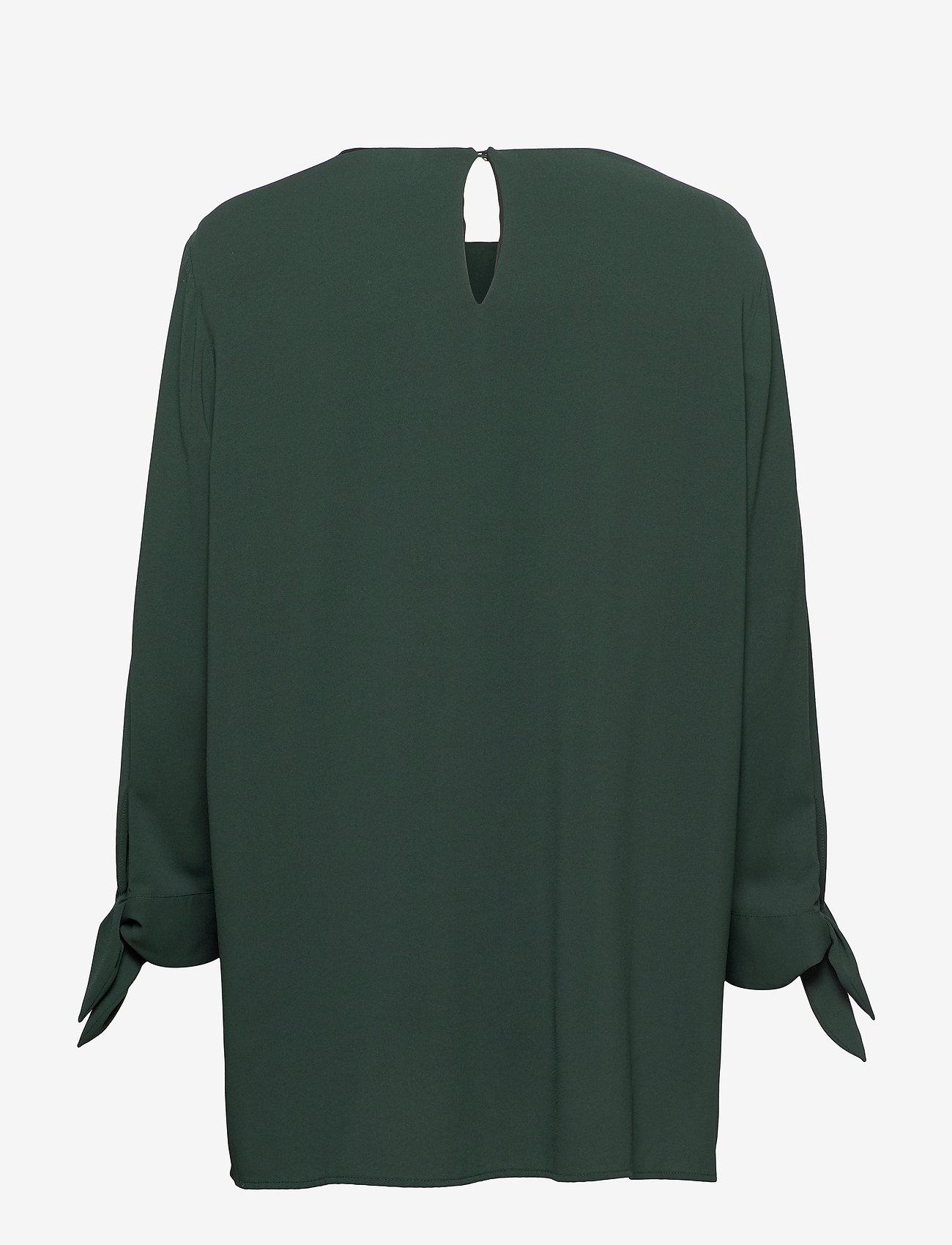 BOSS - Balamy - langærmede bluser - dark green - 1