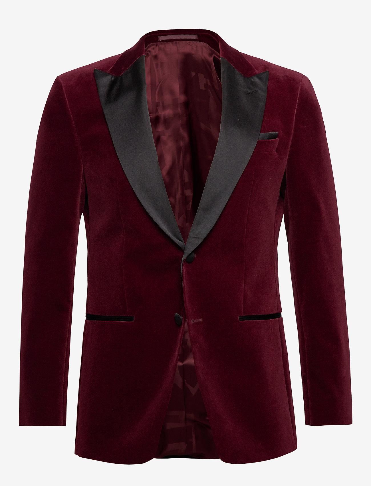 BOSS - Helward4_1 - enkeltradede jakkesæt - dark red - 0