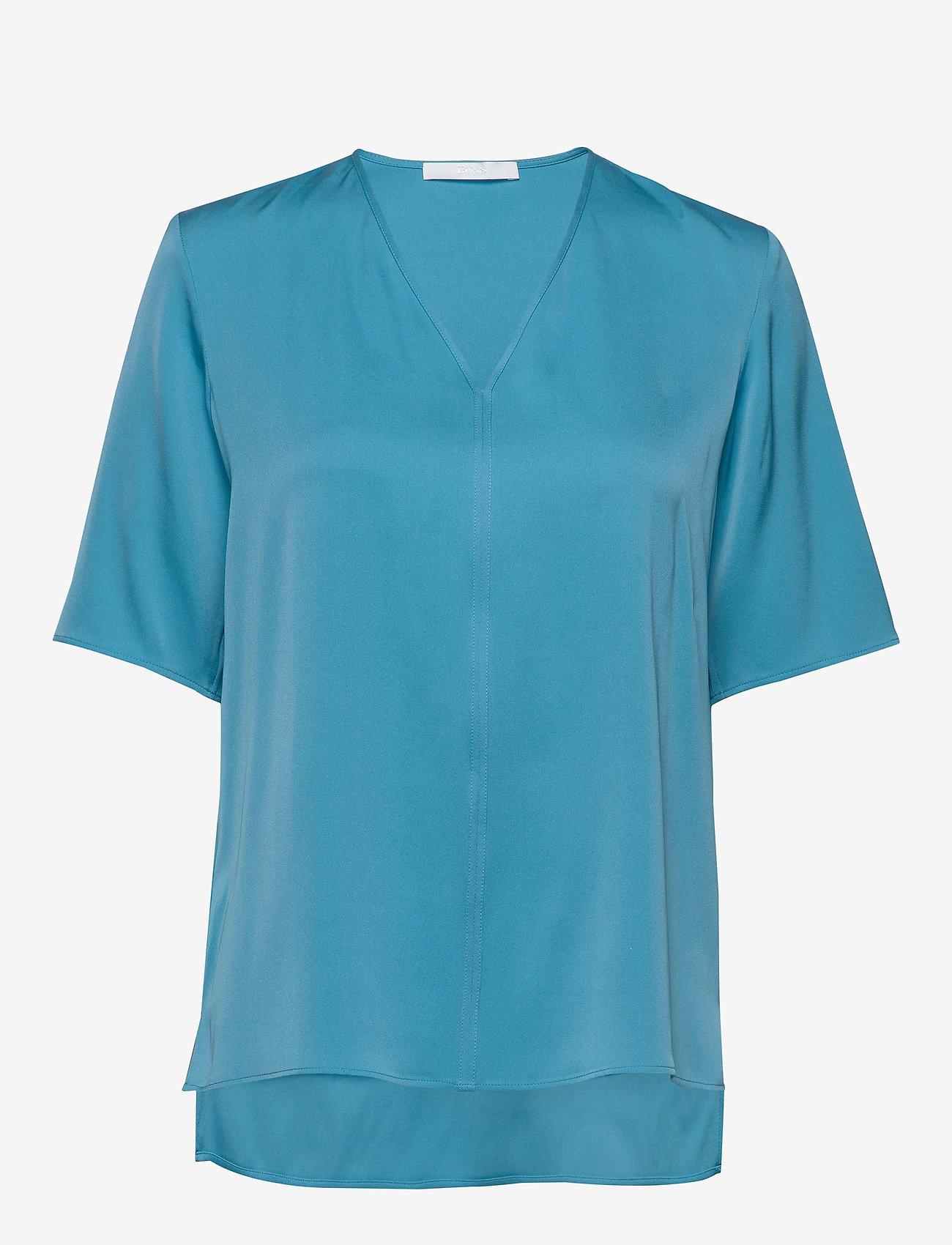 BOSS - Ivala2 - kortærmede bluser - bright blue - 0