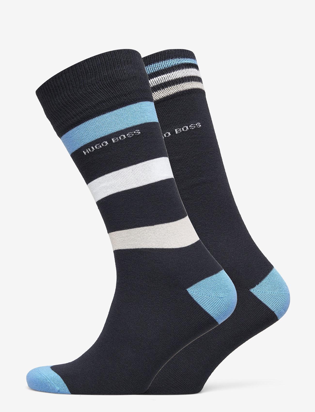 BOSS - 2P RS Stripe CC - regulære sokker - dark blue - 0