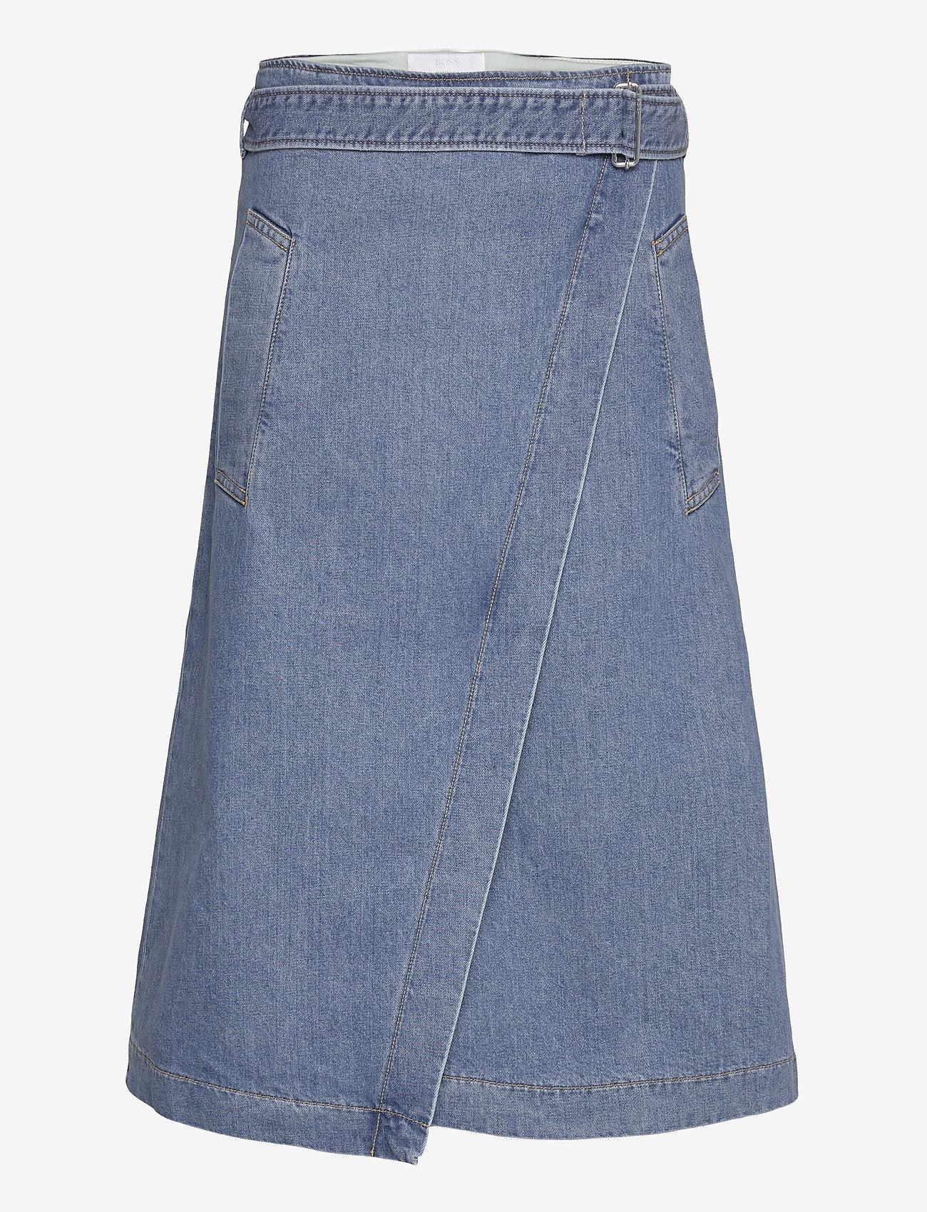 BOSS - DENIM SKIRT 7.0 - jupes portefeuille - medium blue - 0