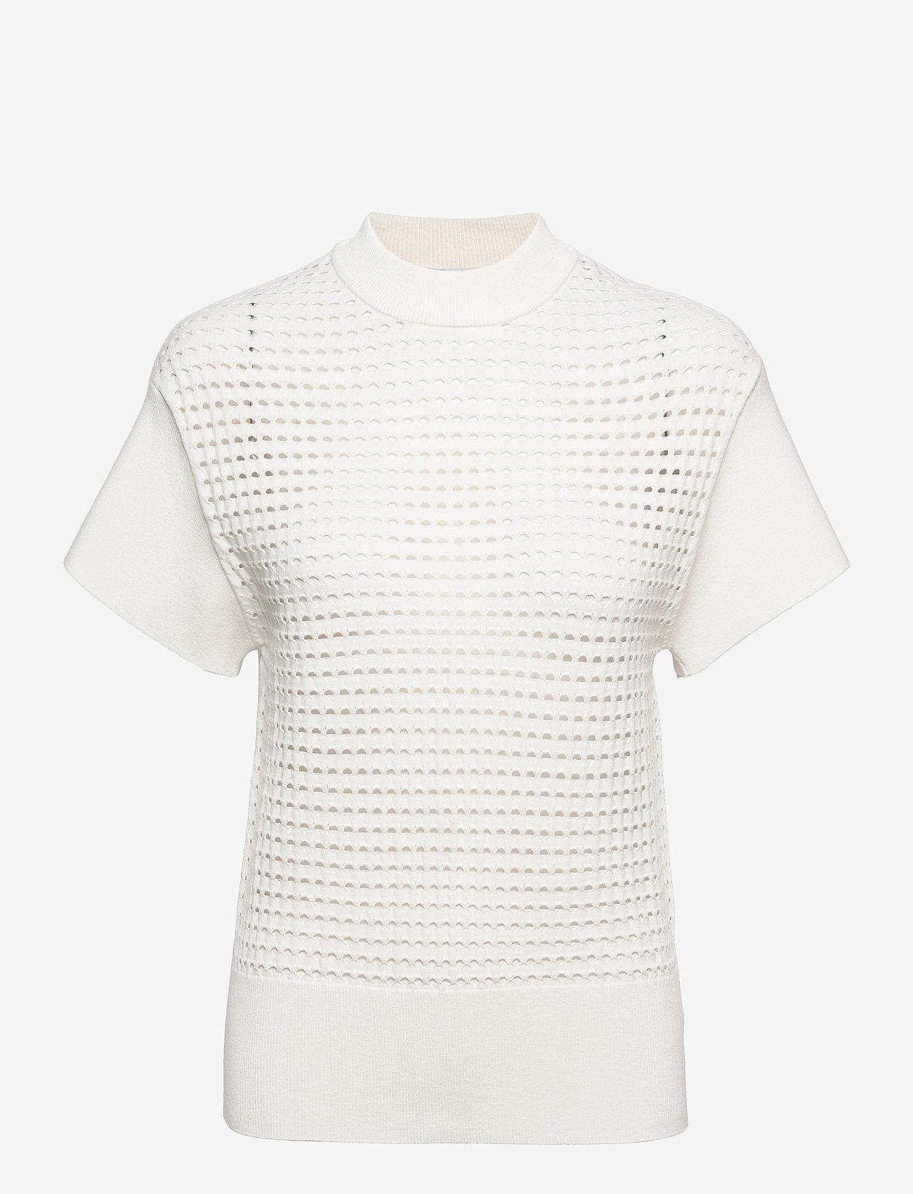BOSS - C_Felilah - strikkede toppe - open white - 0