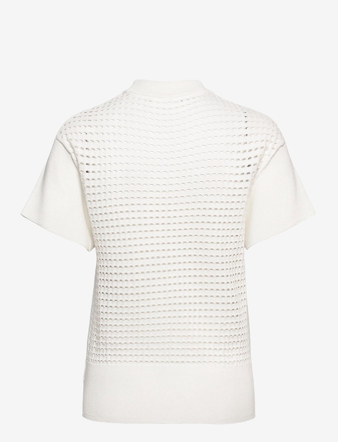 BOSS - C_Felilah - strikkede toppe - open white - 1