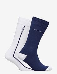 BOSS - 2P RS Logo Stripe CC - regulære sokker - white - 1