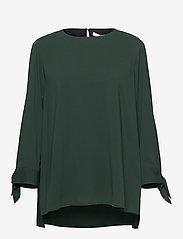 BOSS - Balamy - langærmede bluser - dark green - 0