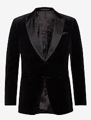 BOSS - Helward4_1 - enkeltradede jakkesæt - black - 0