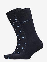 BOSS - 2P RS Dot CC - regulære sokker - dark blue - 0