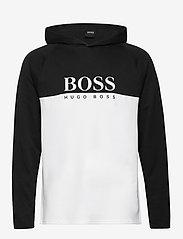 BOSS - Jacquard LS-Shirt H. - sweats à capuche - black - 0