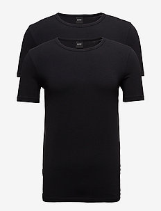 T-Shirt RN 2P CO/EL - BLACK