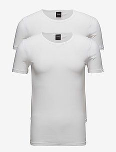 T-Shirt RN 2P CO/EL - multipack - white