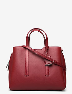Taylor Tote - fashion shoppers - dark red