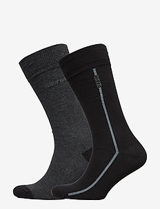2P RS Logo Stripe CC - regulære sokker - charcoal