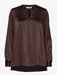 Bintu - langærmede bluser - dark brown