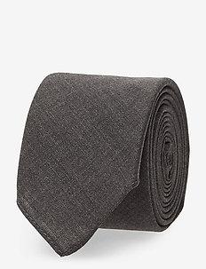 Tie 6 cm soft - CHARCOAL