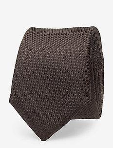 Tie 6 cm - DARK BROWN