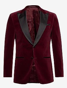 Helward4_1 - enkeltradede jakkesæt - dark red