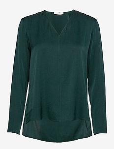 Ivala - langærmede bluser - dark green
