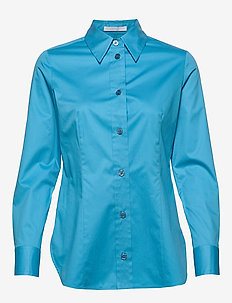 Bavidbo - langærmede skjorter - bright blue