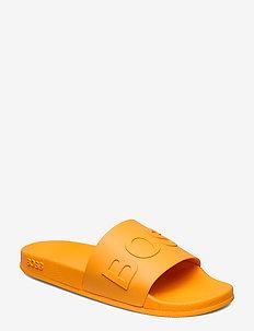 Bay_Slid_rblg - pool sliders - bright orange