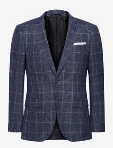 Hutsons4 - enkeltradede blazere - medium blue