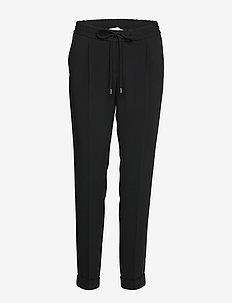 Tariyana9 - bukser med lige ben - black