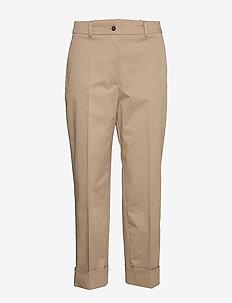 Tachino - bukser med lige ben - medium beige