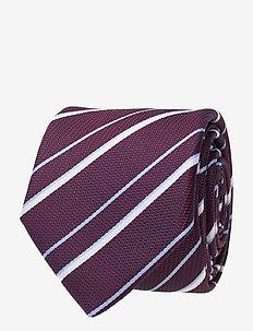 Tie 6 cm - slips - dark purple