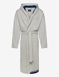 Identity Hooded Gown - morgenkåber - light/pastel grey