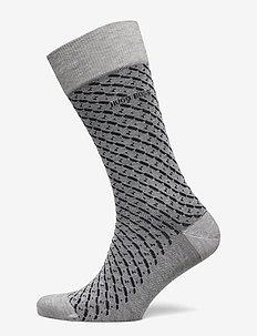 RS Minipattern MC - regulære sokker - silver