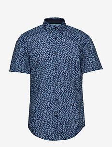 Ronn_2F - kortærmede skjorter - dark blue