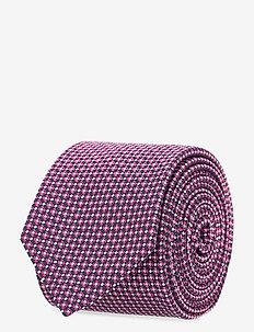 Tie 6 cm - slips - dark pink