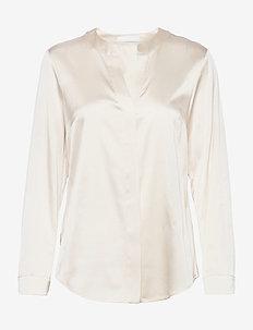 Biwala - langærmede bluser - open white
