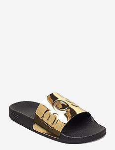 Bay_Slid_mir - flache sandalen - gold