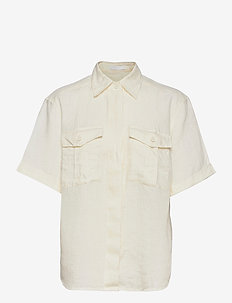 C_Bawakine - overhemden met korte mouwen - open white