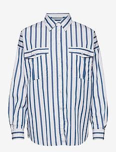 C_Beruno - langermede skjorter - open blue