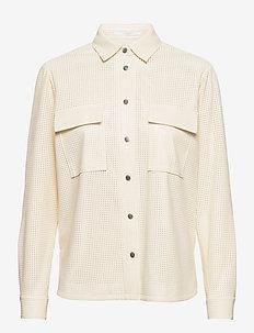 C_Bafy - långärmade skjortor - open white