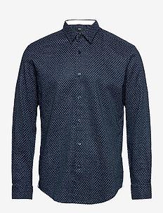 Ronni_53F - chemises de lin - dark blue