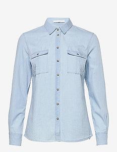 Berts - långärmade skjortor - light/pastel blue