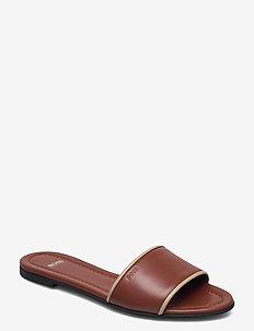 Lory Slide-N - flache sandalen - rust/copper