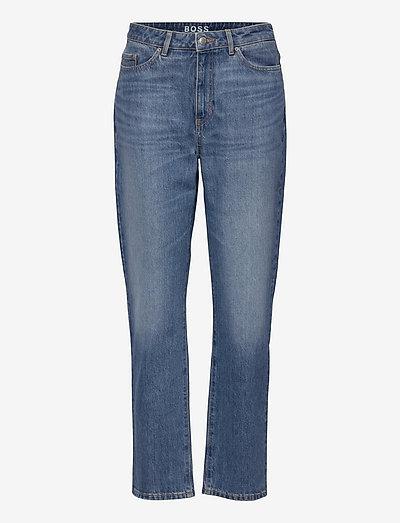 STRAIGHT CROP 1.4 - straight jeans - turquoise/aqua