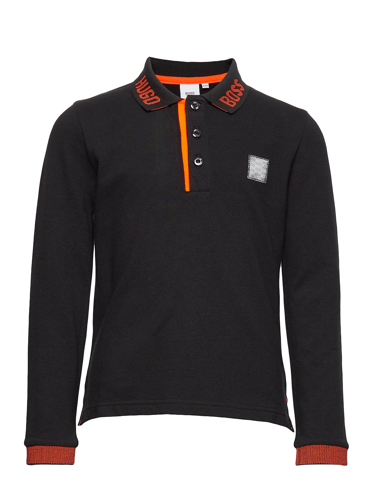 BOSS LONG SLEEVE POLO - BLACK