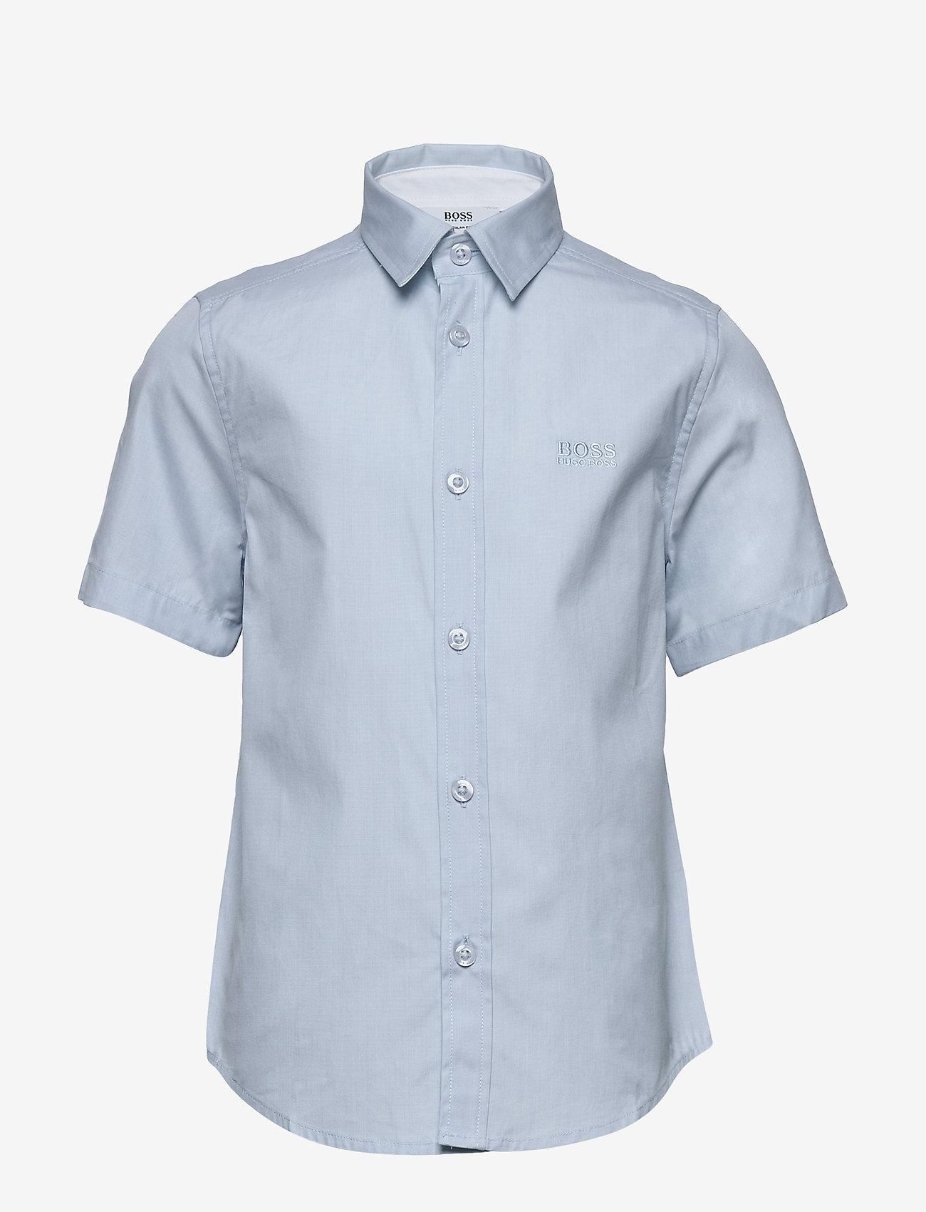 BOSS - SHORT SLEEVE SHIRT - shirts - pale blue